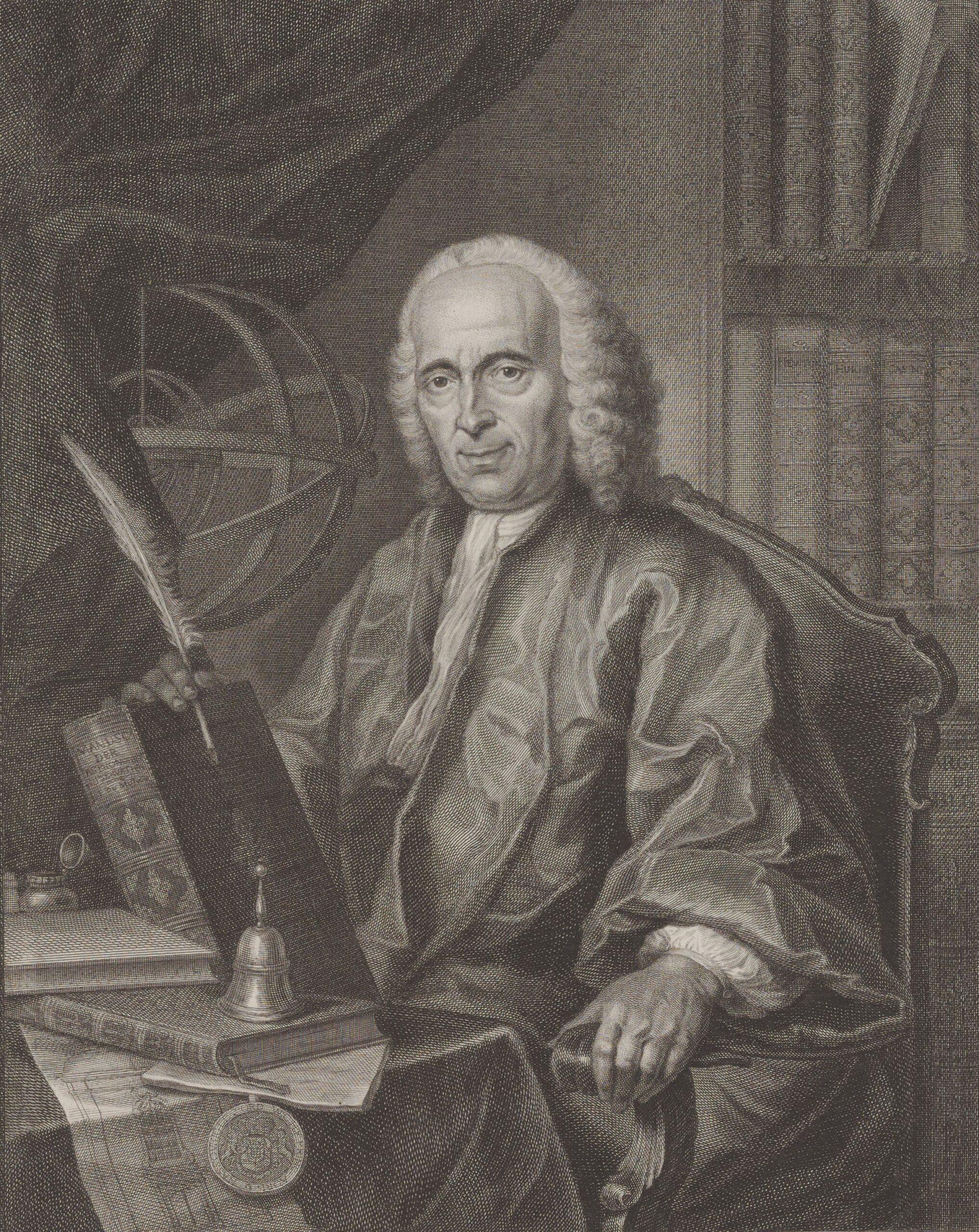 Portret van Jan de Munck, kopergravure uit 1760 (Zeeuws Archief, KZGW, Zelandia Illustrata).