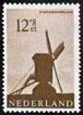 Postzegel met silhouet standerdmolen (1963)