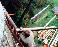 Restauratie molen De Onderneming, Wissenkerke, circa 1995