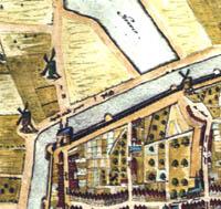 Molens op de kaart van Zierikzee van J. Blaeu uit 1649