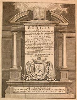 Titelpagina van een Statenbijbel uit 1786 (ZB)