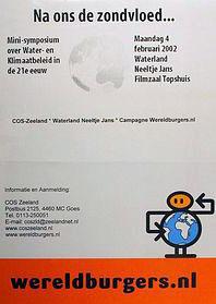 Affiche voor een symposium over water- en klimaatbeleid in 2002