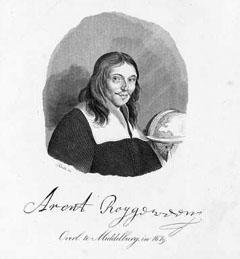 Portret van Arent Roggeveen met handtekening