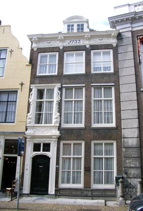 Lange Noordstraat 37, Middelburg, enige tijd het woonhuis van Jacob Roggeveen