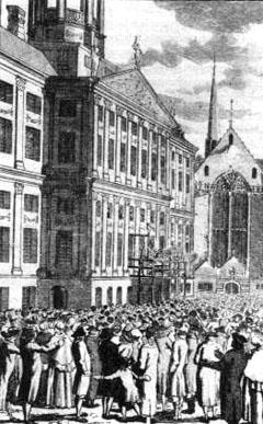Openbare boekverbranding in Amsterdam