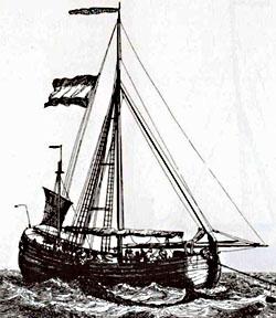 Haringbuis (G. Groenewegen, 'Verzameling van Vier en Tachtig Stuks Hollandsche Schepen', Rotterdam 1789)