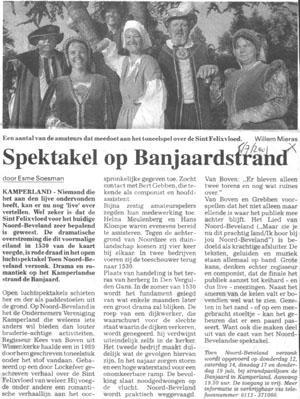 Herdenking St.-Felixvloed, artikel PZC 6 juli 2001