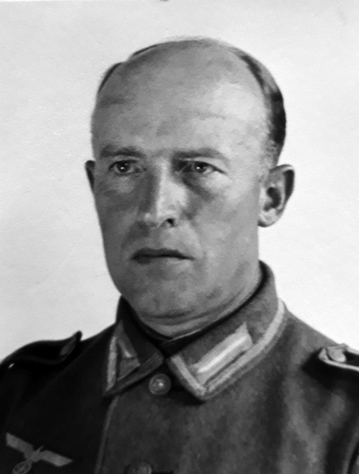 Hans Joachim Lange, bunkercommandant van de batterij Westerschouwen (Museum de Burghse Schoole).
