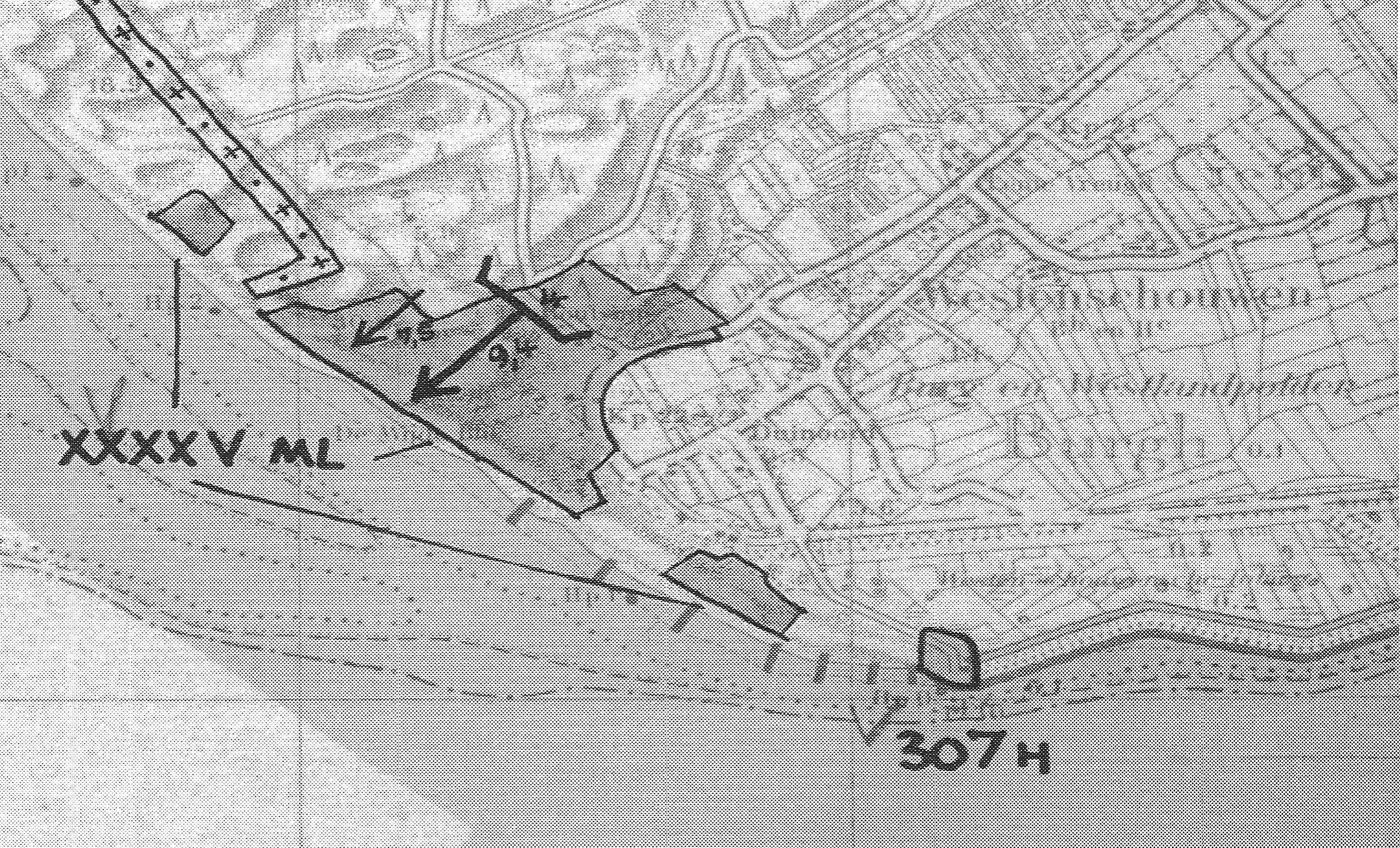 De batterij Westerschouwen, Stützpunkt XXXXV ML, werd gebouwd op de zuidwestelijke punt van het eiland. In het midden de centrale batterijstelling uitgerust met door de Duitsers buitgemaakte 9.4 cm Vickers Armstrong Kanons uit Engeland. Westelijk langs de kust is het mijnenveld ingetekend. (Kaart: Museum de Burghse Schoole)