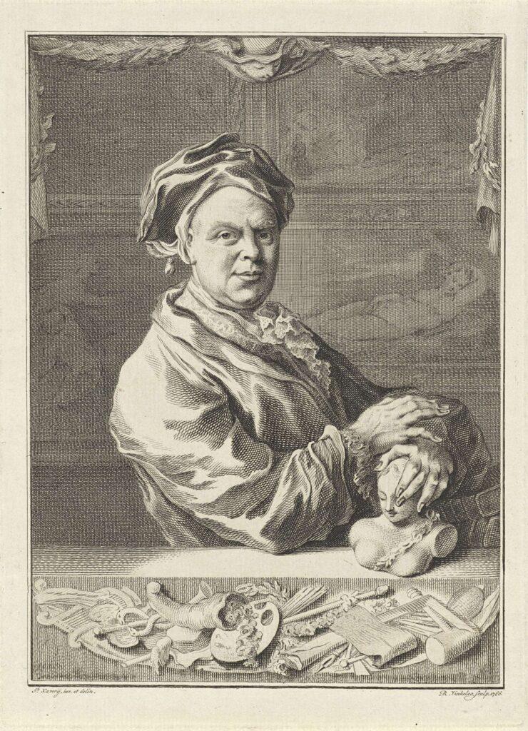 Portret van Gerrit Braamcamp door Reinier Vinkeles, naar Jacob Xavery, 1766 (Rijksmuseum Amsterdam).