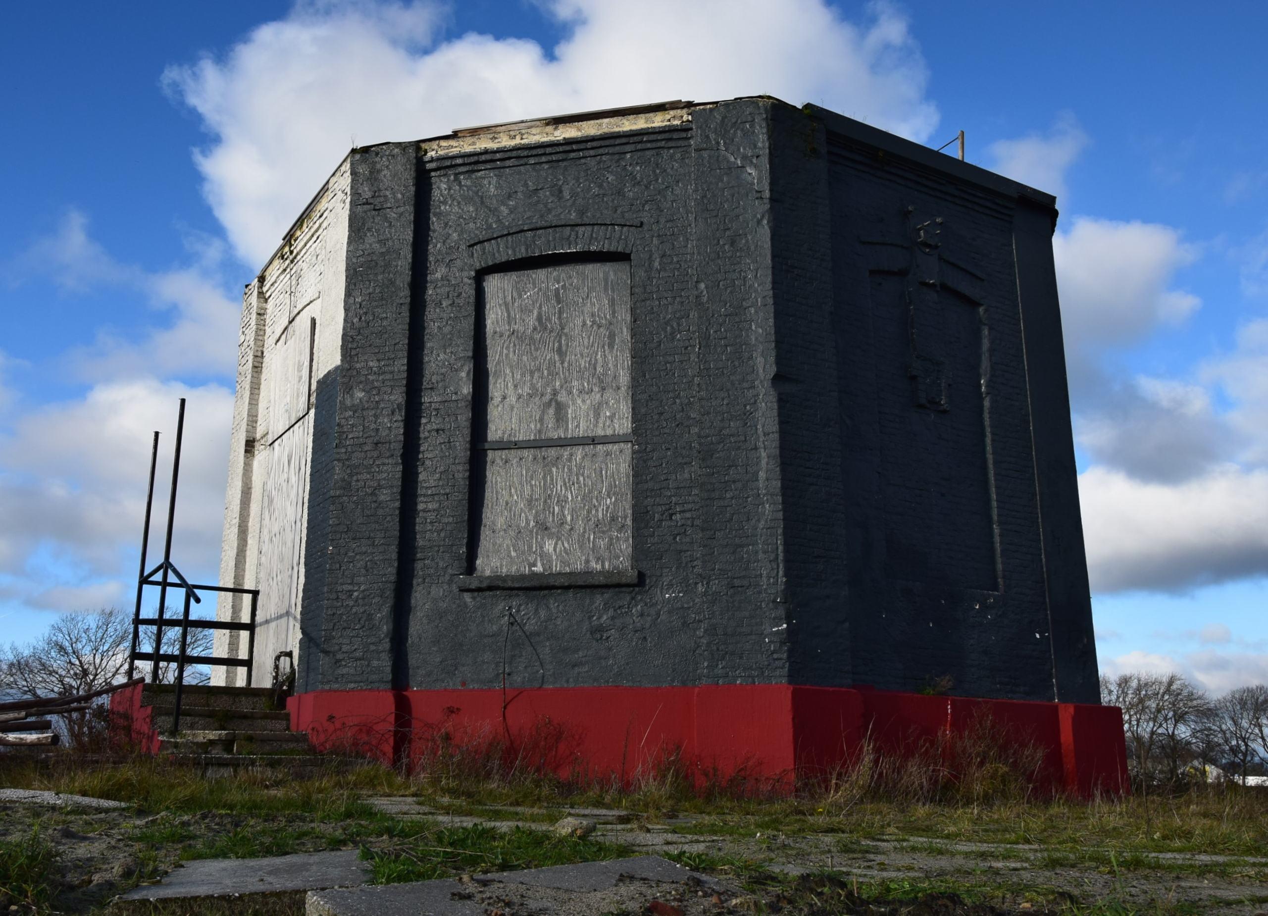 Restant van het watergebouw in Vlissingen (foto H.M.D. Dekker, januari 2021).