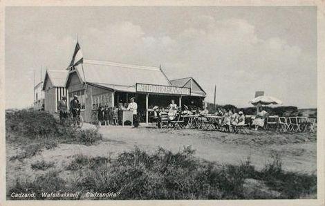 Wafelbakkerij Cadzandria van de familie De Gardeijn, Cadzand-Bad, 1935 (ZB, Beeldbank Zeeland).