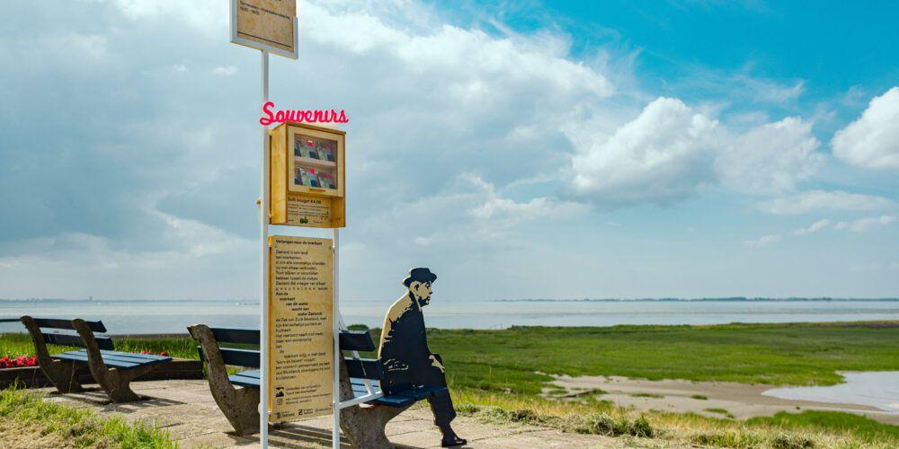 Locatie van de Zeeland Souvenir op de dijk aan de Westerschelde.