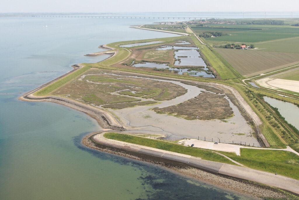 Nieuw Noord-Bevelandpolder (foto Projectbureau Zeeweringen).