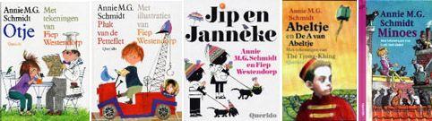 Bekende kinderboeken van Annie M.G. Schmidt.