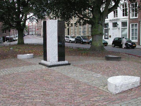 Het Zeeuws Slavernijmonument op de Balans in Middelburg.