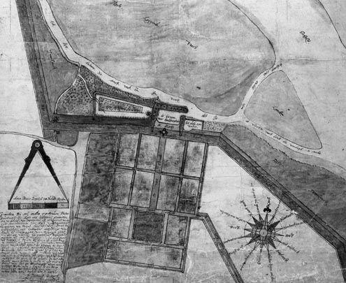 Plattegrond van Colijnsplaat uit 1625. (Nationaal Archief)