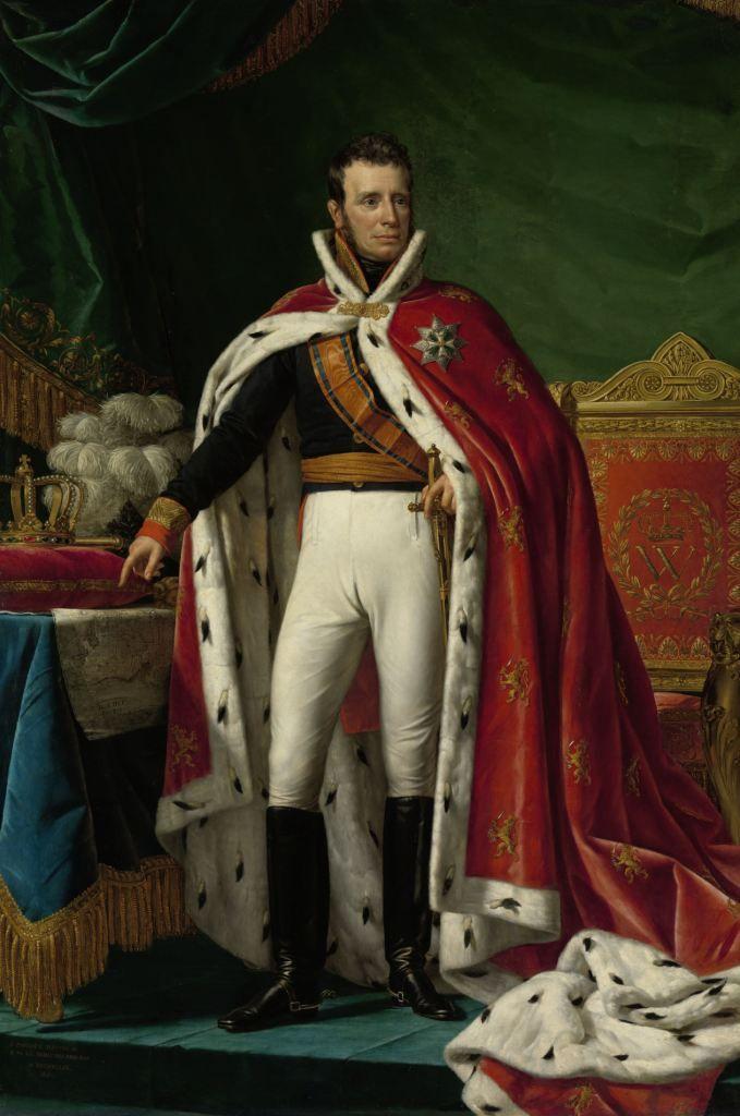 Schilderij van koning Willem I door Joseph Paelinck, 1819. Collectie Rijksmuseum.