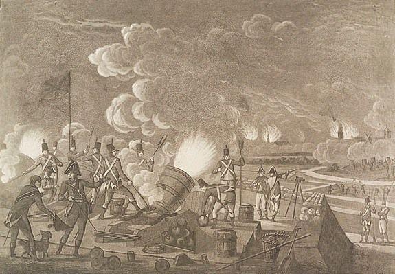De Engelse aanval op Vlissingen in 1809. A. Lutz, J. Jelgerhuis. (Zeeuws Archief, coll. Zeeuws Genootschap, Zelandia Illustrata)