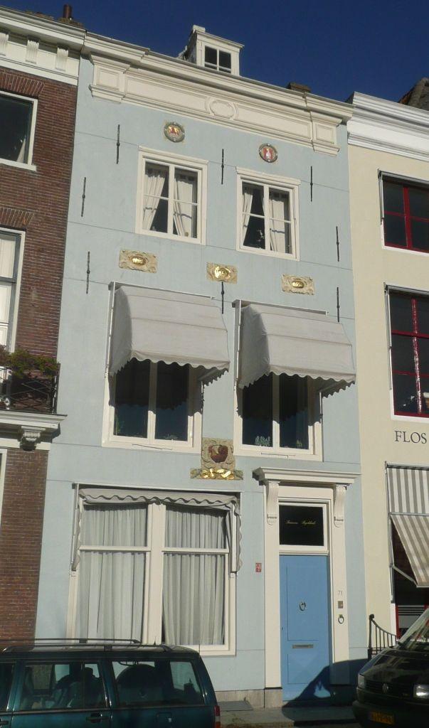 Het geboorte- en woonhuis van François Rijckhals aan de Dam in Middelburg. (Beeldbank SCEZ)