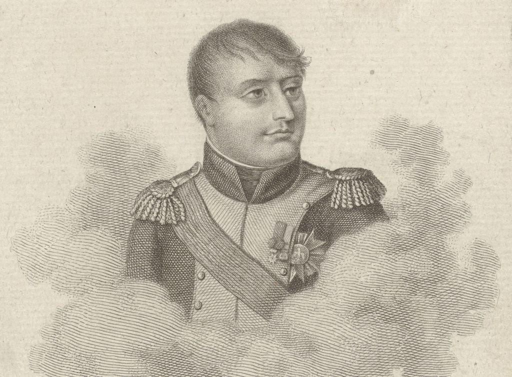 Portret van Napoleon. Ets door Jacob Ernst Marcus, 1811. (Collectie Rijksmuseum)