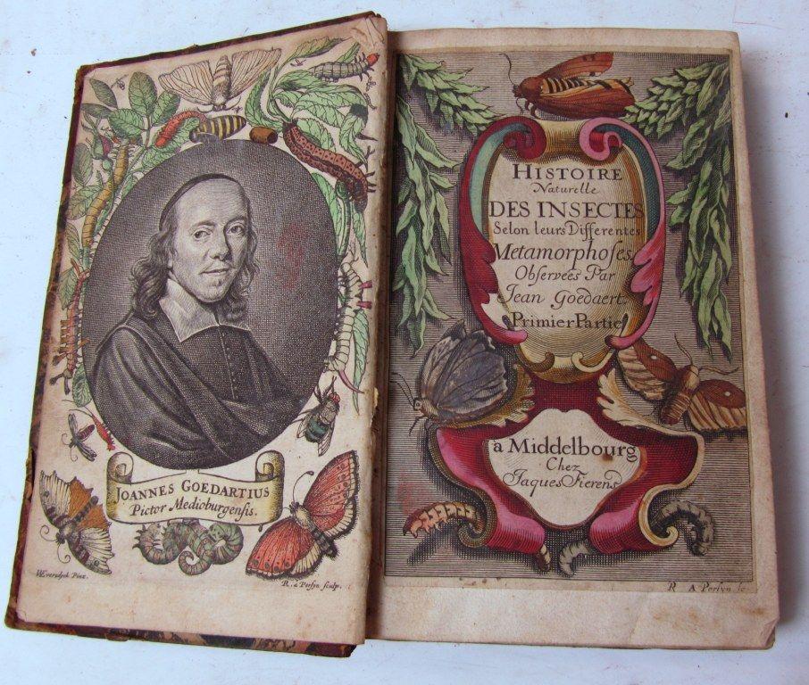 Dit exemplaar van de Franse vertaling van Goedaerts werk bewijst dat de Franse uitgave al bij de in 1669 overleden Fierens in Middelburg gedrukt werd. Tot voor kort werd aangenomen dat deze pas in 1700 verscheen. (Goedaert Collectie, Krimpen a/d IJssel)