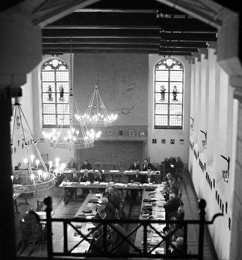 Statenzaal, 1962. (Zeeuwse Bibliotheek, Beeldbank Zeeland, foto Jaap Wolterbeek)
