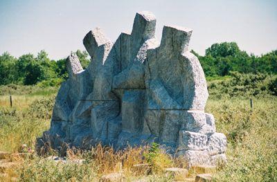 Het monument bij de Veersedam.