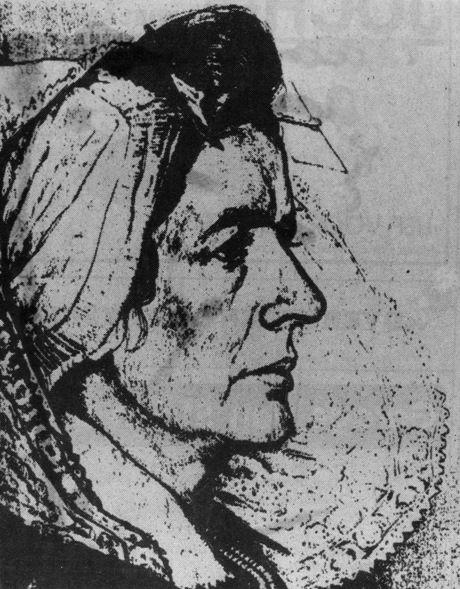Tekening van Neeltje Lokerse door Laurent Verwey, in 'Eigen Haard', jaargang 37, 1911. (Zeeuwse Bibliotheek)