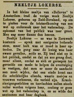Pleidooi voor de totstandkoming van een wet op onderzoek naar het vaderschap. Artikel uit de Zierikzeesche Nieuwsbode van 2 januari 1906. (Zeeuwse Bibliotheek, Krantenbank Zeeland)