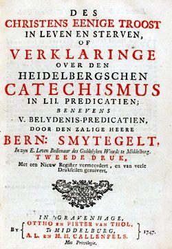 Titelpagina van Bernardus Smytegelts Verklaring van de Heidelbergse Catechismus, 1747. (Zeeuwse Bibliotheek)