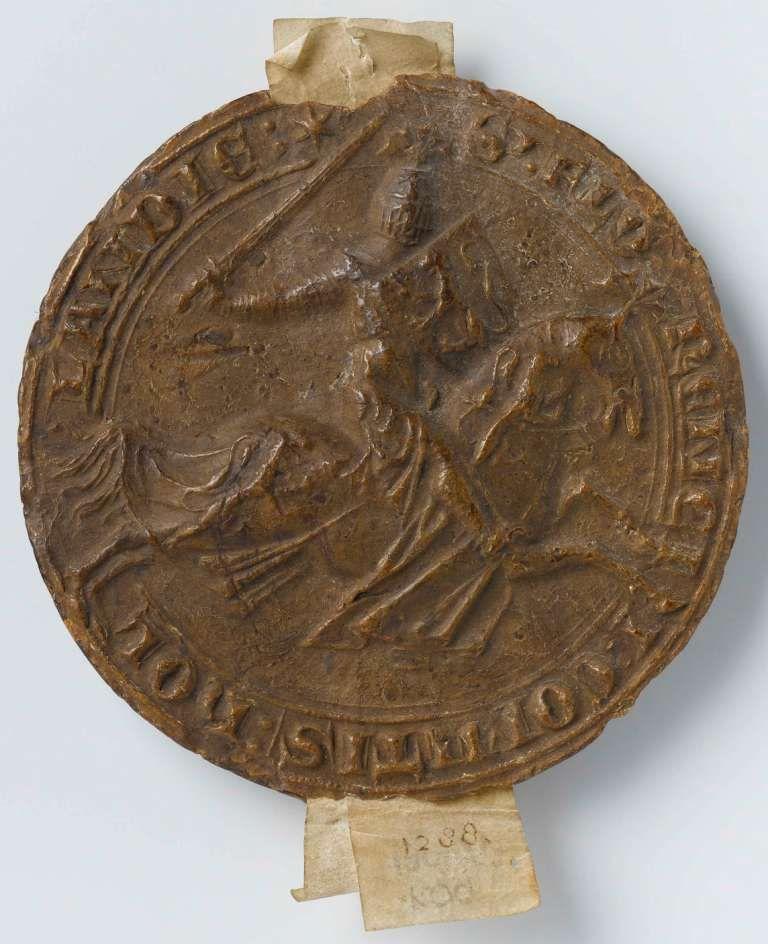 Waszegel van Floris V, circa 1266-1296. (collectie Rijksmuseum)