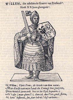 Willem II zoals afgebeeld in de 'Croniik van Zelandt' van Marcus Zuerius van Boxhorn (1644).