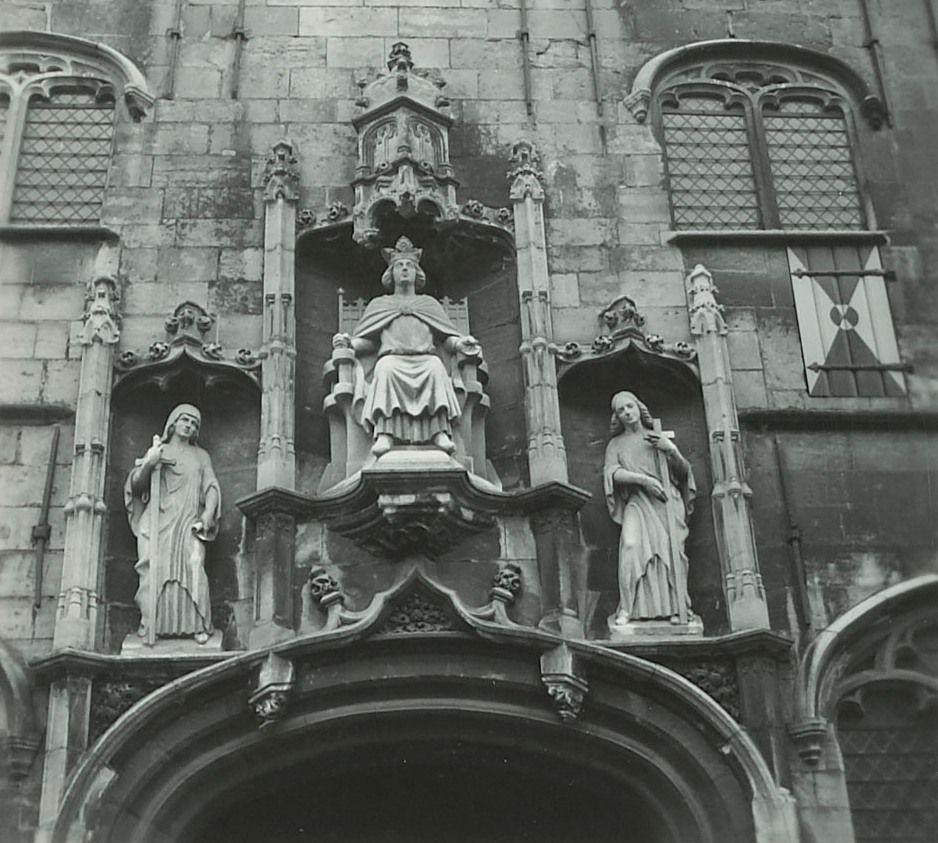 Rooms-koning Willem afgebeeld in de Gistpoort in Middelburg. (Zeeuws Archief)