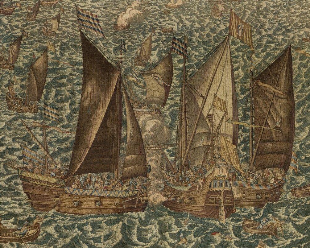 Detail uit het wandtapijt Beleg van Veere.