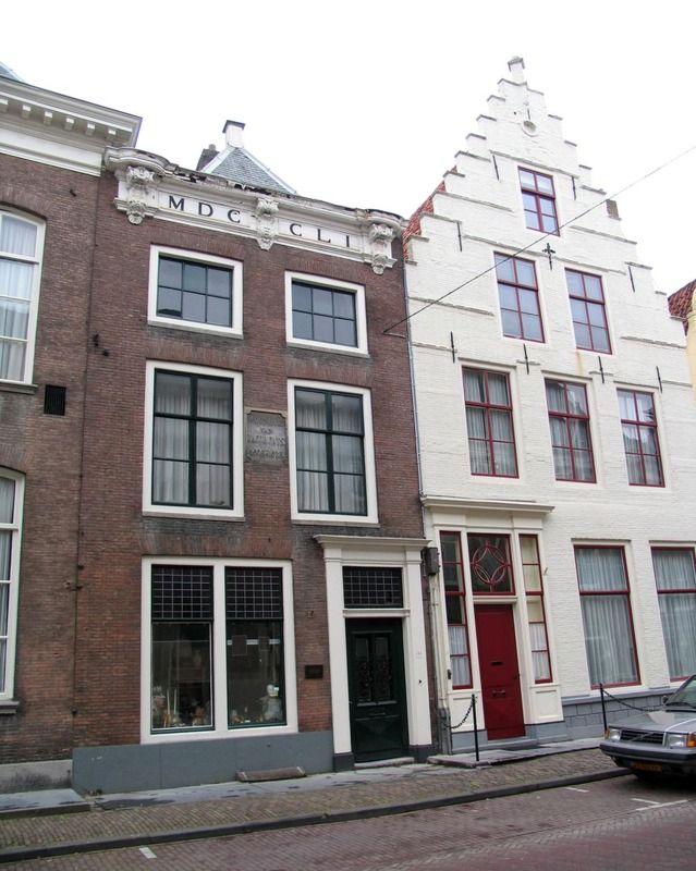 Het voormalige woonhuis van Jacob Cats in de Lange Noordstraat te Middelburg. (Zeeuwse Bibliotheek, Beeldbank Zeeland, foto J. Francke)