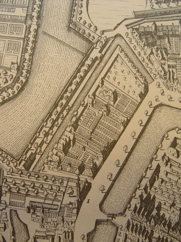 Armeniaans Schuitvlot en omgeving op de kaart van Goliat, 1657.