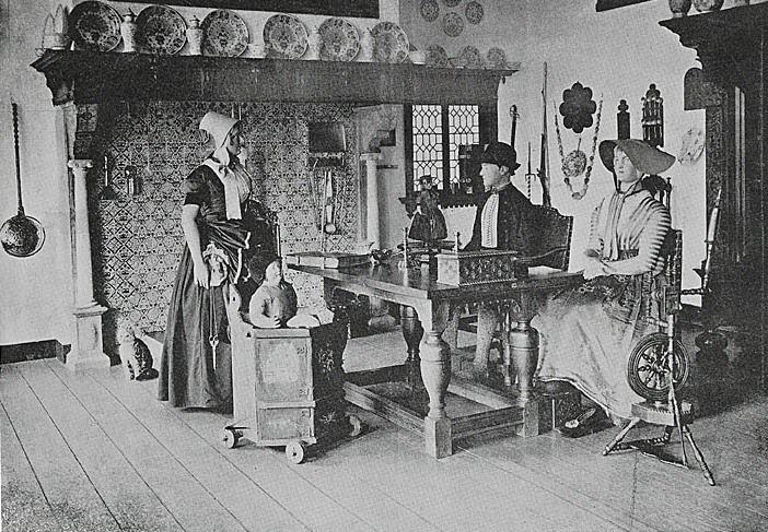 De 'Walchersche Kamer' in het museum in de Wagenaarstraat. (Zeeuws Archief, collectie Zeeuws Genootschap, Zelandia Illustrata)