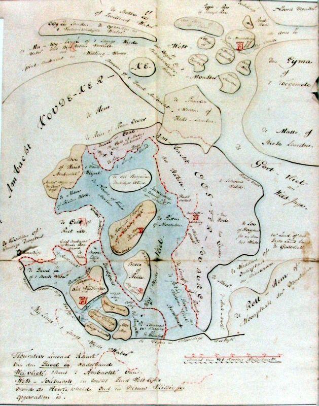 Verheye van Citters tekende ook zelf topografische kaartjes. Deze bevindt zich in een handschrift uit 1801. (Zeeuwse Bibliotheek, collectie Zeeuws Genootschap)