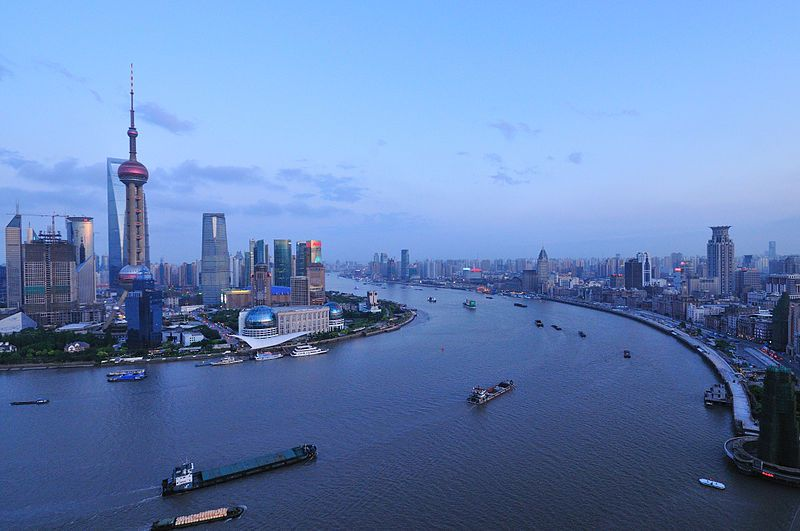De Huangpu in recente tijden. (Foto David Wong)