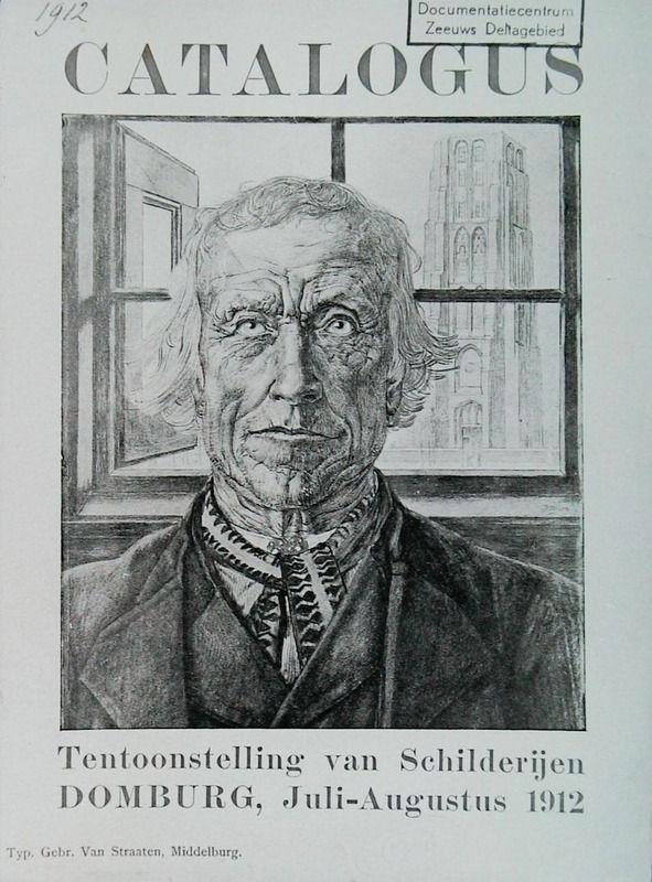 Catalogus behorend bij de tentoonstelling van 1912, met een tekening van Jan Toorop. (Zeeuwse Bibliotheek, Beeldbank Zeeland)