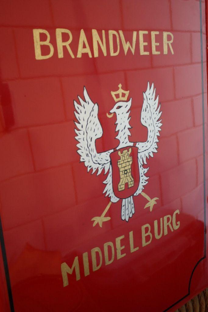 Detail portier brandweerauto Magirus. (Beeldbank SCEZ)