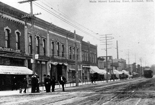 Main Street Zeeland, Michigan, VS. (Zeeland Historical Society, Zeeland, Michigan)