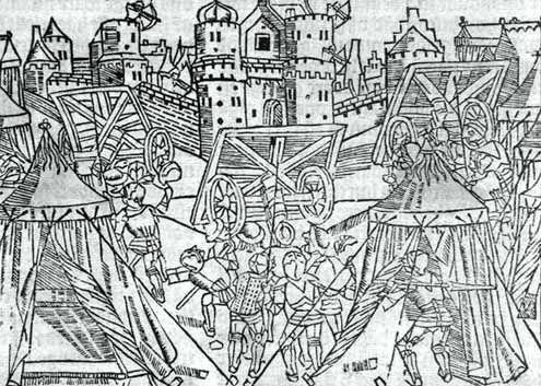 De belegering van Zierikzee in 1303/04 door de Vlaamse graaf Gwijde van Dampierre. (Zeeuws Archief, collectie Zeeuws Genootschap, Zelandia Illustrata)