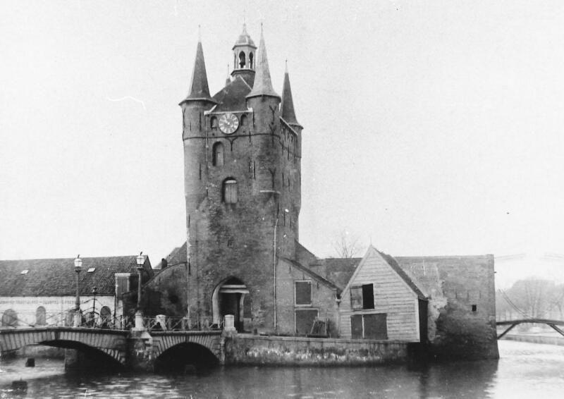 Situatie omstreeks 1895. (Zeeuwse Bibliotheek, Beeldbank Zeeland)