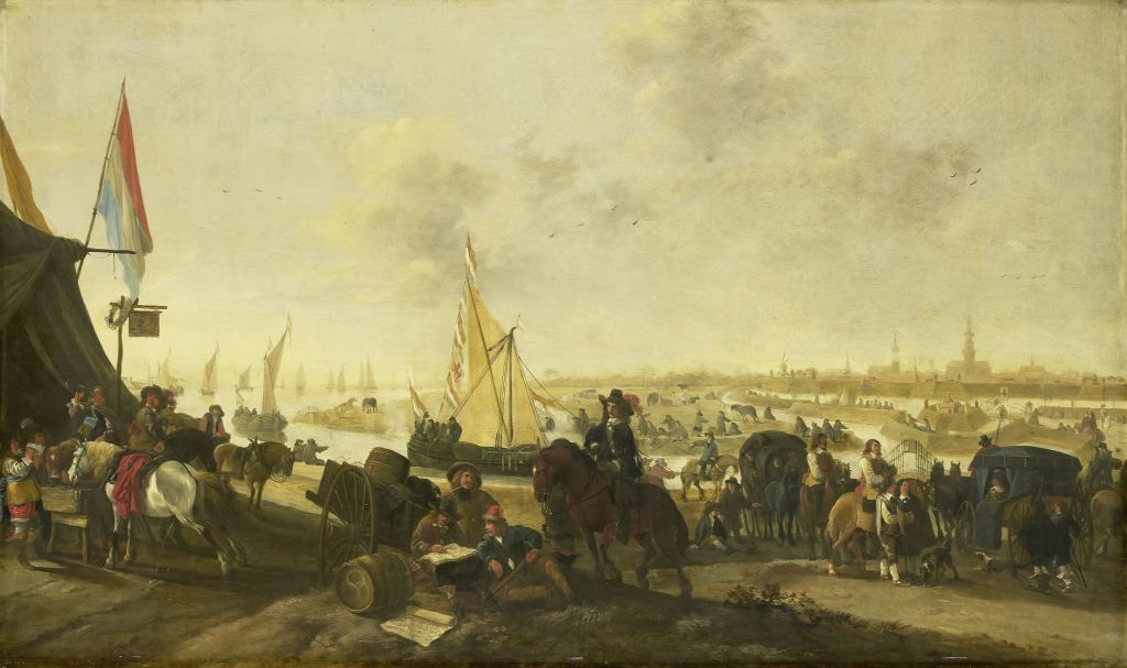 Verovering van Hulst op de Spanjaarden in 1645. Schilderij door Hendrick Meijer. (Rijksmuseum)