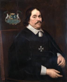 Cornelis Lampsins (1610-1664), bewindhebber WIC, telg uit de vooraanstaande redersfamilie Lampsins uit Vlissingen. (Zeeuws maritiem muZEEum)