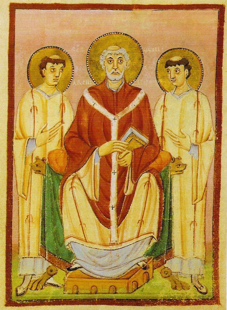De heilige Willibrord.