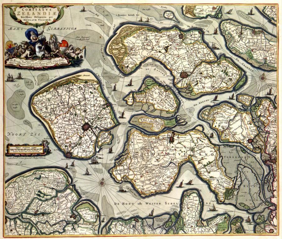 De zogenaamde Speculum Zelandiae bestaat uit tekeningen van Zeeland halverwege de 17de eeuw. De verzameling hoort bij de Visscher-Roman Atlas.