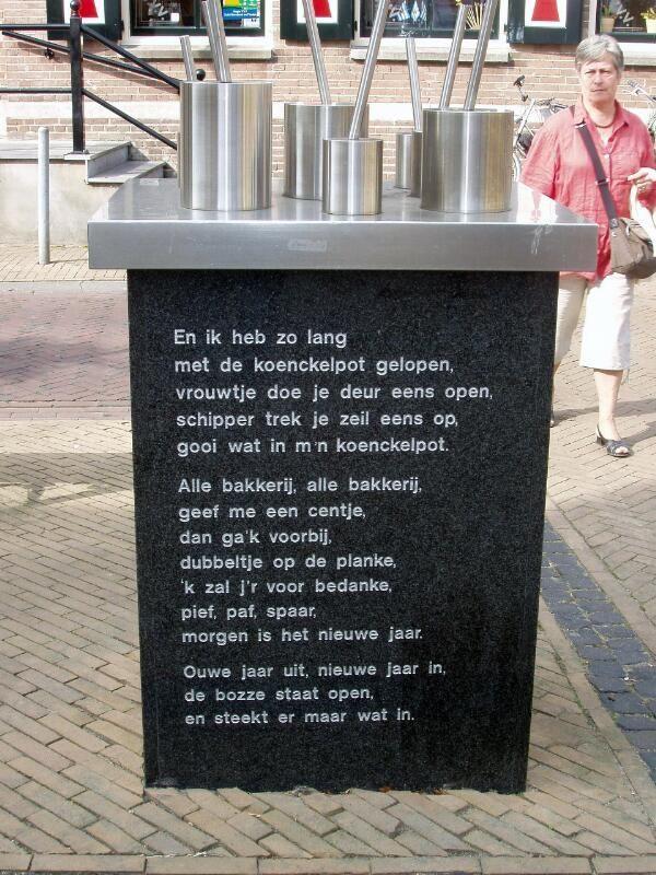 Het koenkelpotmonument in Yerseke. (Zeeuwse Bibliotheek, Beeldbank Zeeland, foto M. Meijer-van der Linde)